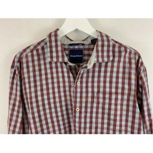 Tommy Bahama Men's Gingham Plaid Shirt